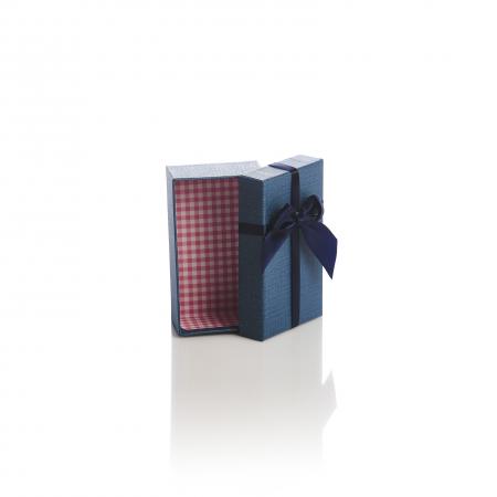 Cutie dreptunghiulara papion uni rosu albastru bej sau roz [1]