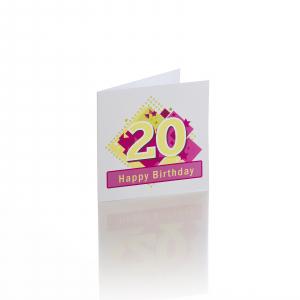 Felicitare 20 ani fata [0]
