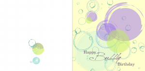 Felicitare Happy Birthday Bubbly1