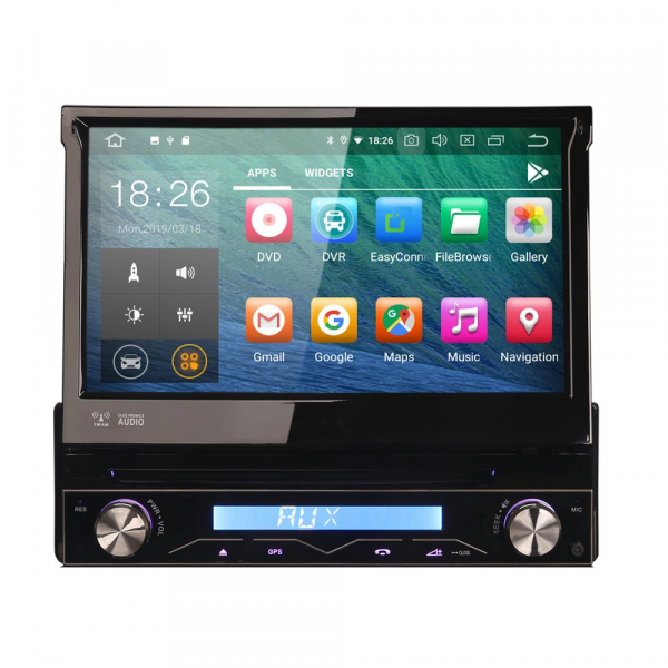 Navigatie auto / Multimedia player auto 1DIN, ecran retractabil, Android 10.0, Quad-Core ,2Gb Ram. [0]
