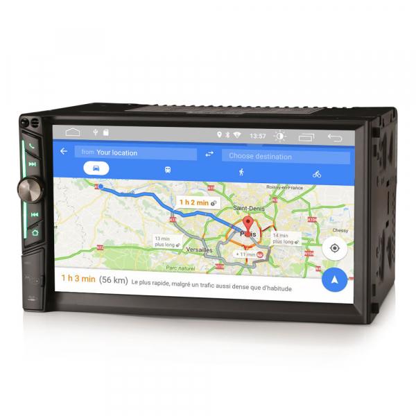 Multimedia player auto, 2 din universal,  Android 10.0 ,Quad core CPU, 2GB Ram; Camera marsarier si ObdII inclus 0