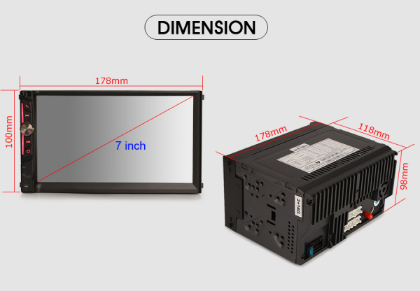 Multimedia player auto, 2 din universal,  Android 10.0 ,Quad core CPU, 2GB Ram; Camera marsarier si ObdII inclus 3