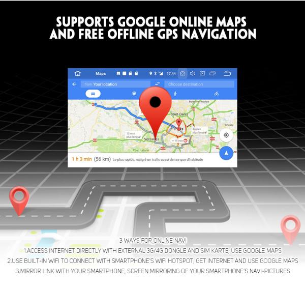 Navigatie auto / Multimedia player auto 1DIN, ecran retractabil, Android 10.0, Quad-Core ,2Gb Ram. [5]