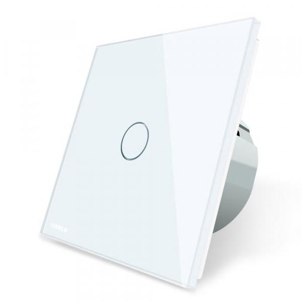 Intrerupator simplu cu touch Livolo din sticla, conectivitate prin protocol ZigBee [1]
