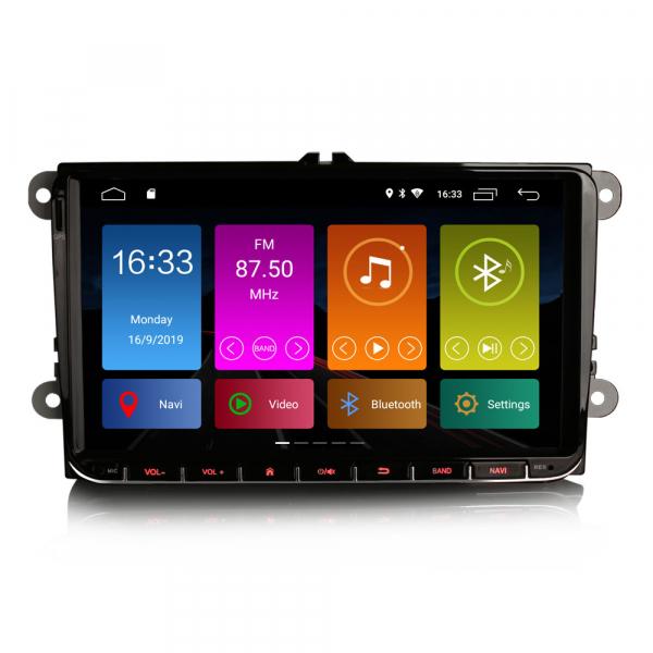 Navigatie auto 2 din, Pachet dedicat VW/SEAT/SKODA, Android 10 , WIFI+GPS, 9 inch,, DAB+,Quad core CPU, 2GB Ram,16GB memorie interna 0