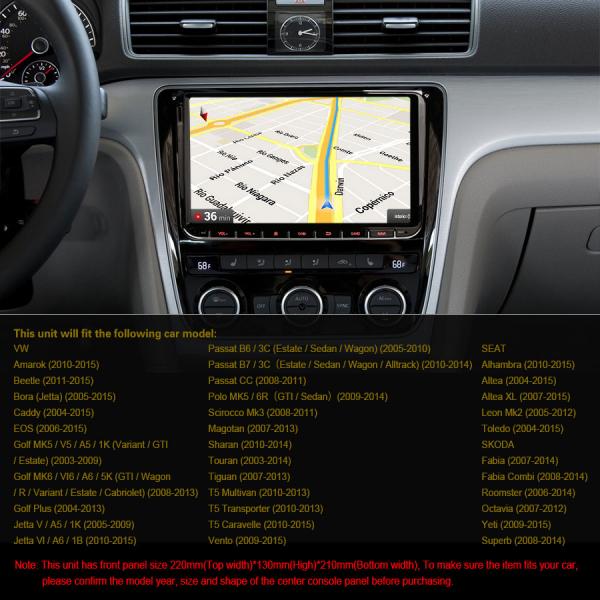 Navigatie auto 2 din, Pachet dedicat VW/SEAT/SKODA, Android 10 , WIFI+GPS, 9 inch,, DAB+,Quad core CPU, 2GB Ram,16GB memorie interna 4
