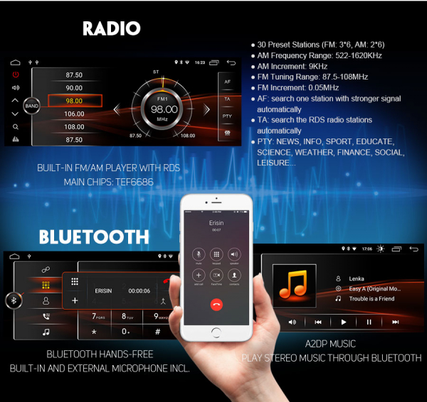 Navigatie auto, Pachet dedicat BMW, Android 10, GPS, WIFI,DAB+, 2GB RAM, 16GB memorie interna 5