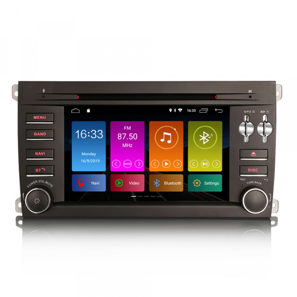 Navigatie auto, Pachet dedicat Porsche Cayenne,7 inch, Android 10, GPS, WIFI, DAB+, 2GB RAM, 16GB memorie interna [0]
