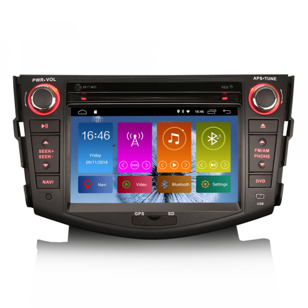 Navigatie auto, Pachet dedicat TOYOTA RAV 4,7 inch, Android 10, GPS, WIFI, DAB+,DVD, 2GB RAM, 16GB memorie interna 0