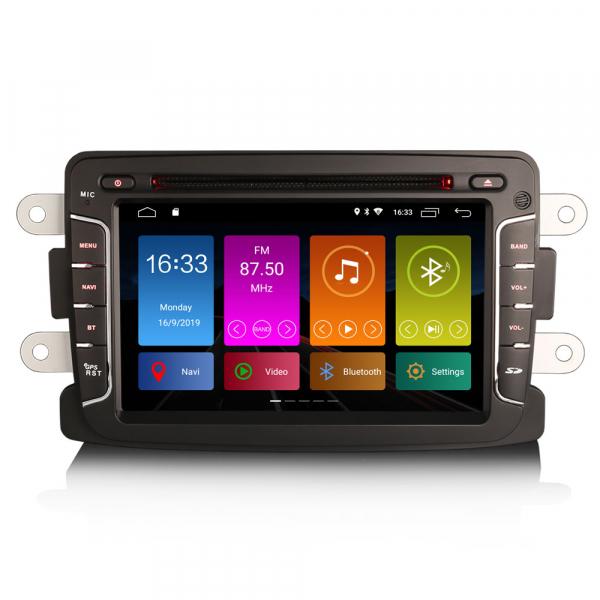 Navigatie auto, Pachet dedicat Renault Dacia Duster Sandero Dokker Lodgy, Android 10, 2GB RAM, 16GB memorie interna, 7 inch 0