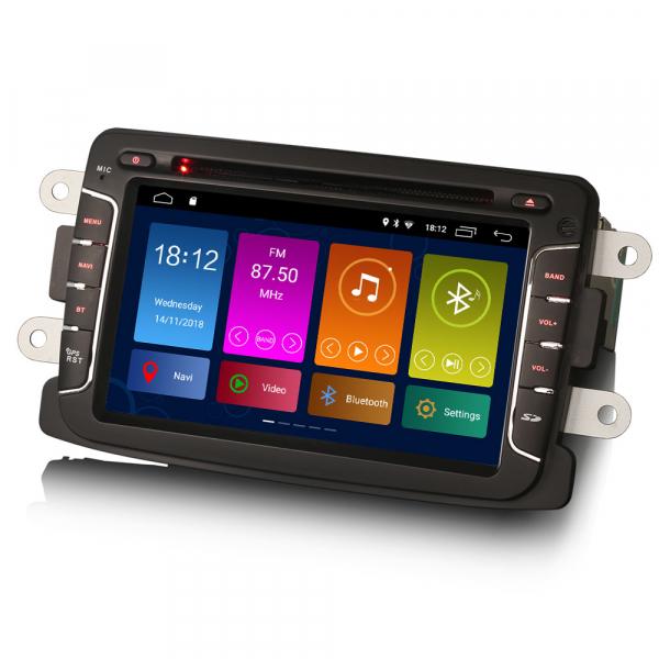 Navigatie auto, Pachet dedicat Renault Dacia Duster Sandero Dokker Lodgy, Android 10, 2GB RAM, 16GB memorie interna, 7 inch 3