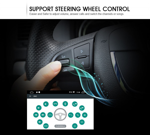 Navigatie auto, Pachet dedicat Fiat Bravo ,7 inch, Android 10, GPS, WIFI, DAB+, 2GB RAM, 16GB memorie interna 6