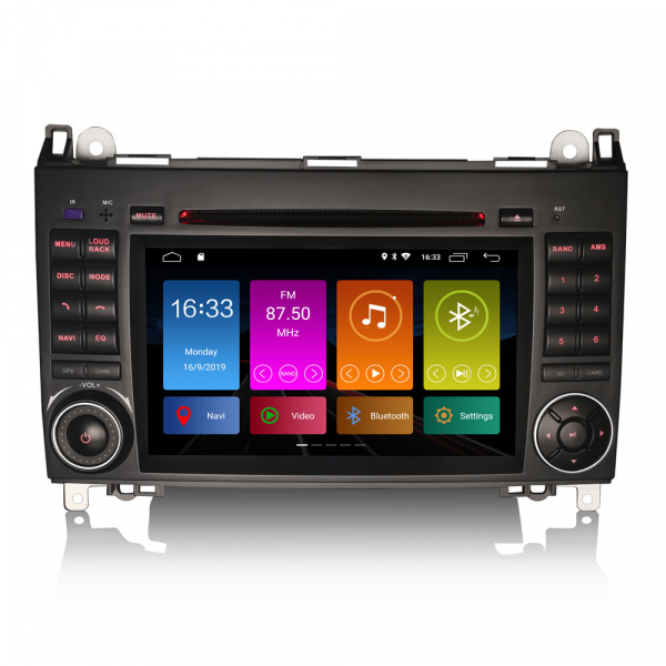 Navigatie auto 2 din, Pachet dedicat MERCEDES Benz A/B Class Vito Viano, Android 9.0 , WIFI+GPS, 7 inch,, DAB+,Quad core CPU, 2GB Ram,16GB memorie interna 0