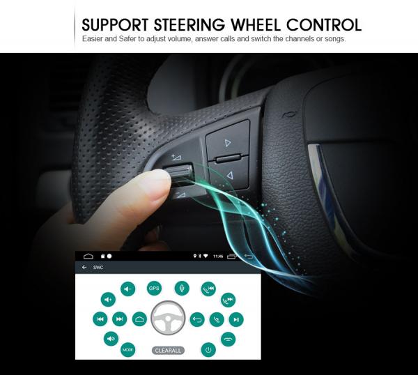 Navigatie auto, Pachet dedicat Fiat Punto Linea ,7 inch, Android 9.0, GPS, WIFI, DAB+, 2GB RAM, 16GB memorie interna 8