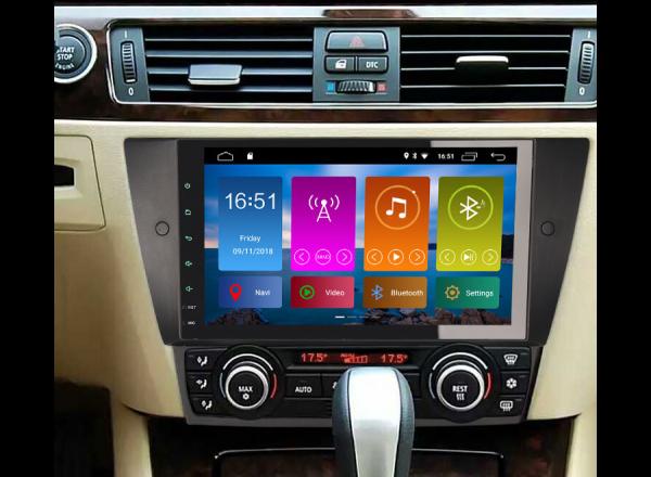 Navigatie auto 2 din, Pachet dedicat BMW 3 Series E90 E91 E92 E93, Android 10.0, 9 inch, DAB+,Quad core CPU, 2GB Ram,16GB memorie interna 7