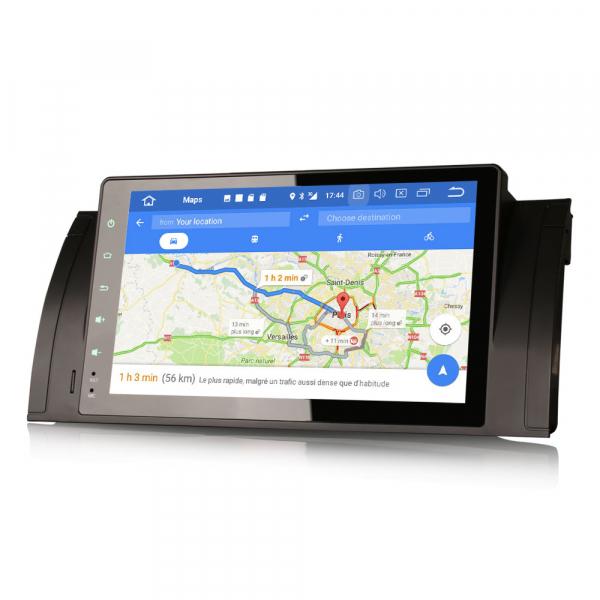 Navigatie auto 2 din, Pachet dedicat BMW M5 5er E39 E53 X5, Android 10 , WIFI+GPS, 9 inch,, DAB+,Quad core CPU, 2GB Ram,16GB memorie interna [3]