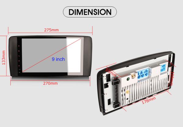 Navigatie auto 2 din, Pachet dedicat Mercedes R Class W251, Android 10 , WIFI+GPS, 9 inch,, DAB+,Quad core CPU, 2GB Ram,16GB memorie interna [9]