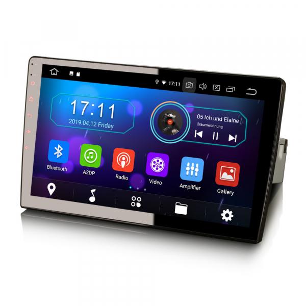 Navigatie auto universala/Multimedia player cu articulatie rotativa reglabila,10.1 inch, Android 9.0, WiFi DAB+ GPS TNT DVR Bluetooth [5]