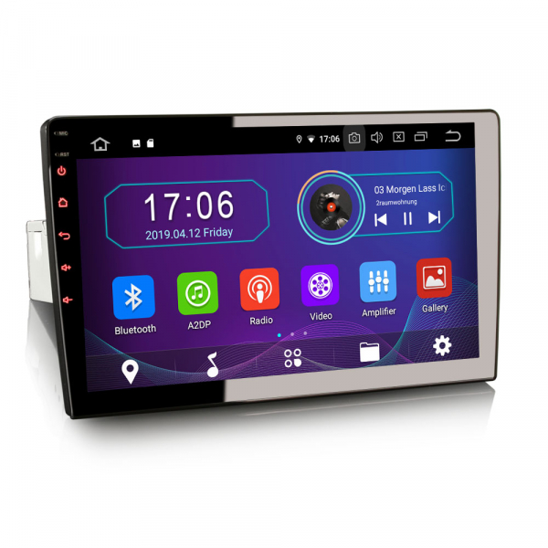 Navigatie auto universala/Multimedia player cu articulatie rotativa reglabila,10.1 inch, Android 9.0, WiFi DAB+ GPS TNT DVR Bluetooth [3]