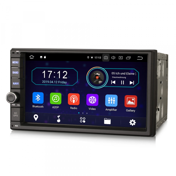 Navigatie auto 2 din, Universala, Android 9.0 , WIFI+GPS, 7 inch DAB+,Quad core CPU. 1