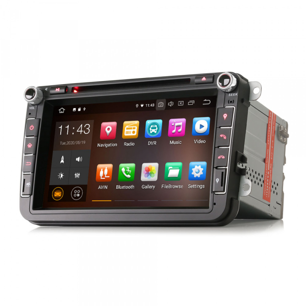 Navigatie auto universala 2DIN(VW/SEAT/SKODA), 8 inch, Android 10, Gps 4G , 2GB RAM, 16GB memorie interna 4