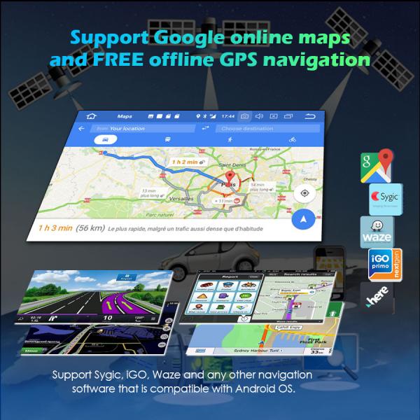 Navigatie auto universala/Multimedia player cu articulatie rotativa reglabila,10.1 inch, Android 10, Quad Core, 2Gb Ram 4