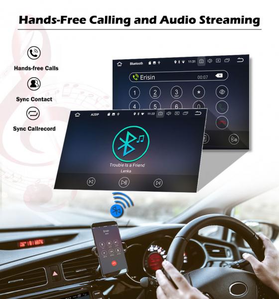 Navigatie auto universala/Multimedia player cu articulatie rotativa reglabila,10.1 inch, Android 10, Quad Core, 2Gb Ram 5