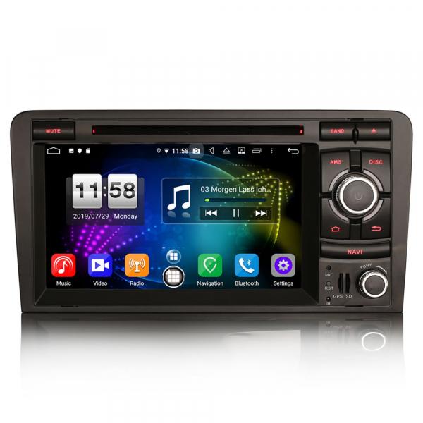 Navigatie auto, Pachet dedicat AUDI A3 S3 RS3, Android 9.0, GPS, WIFI, DAB+, 7 inch. 0