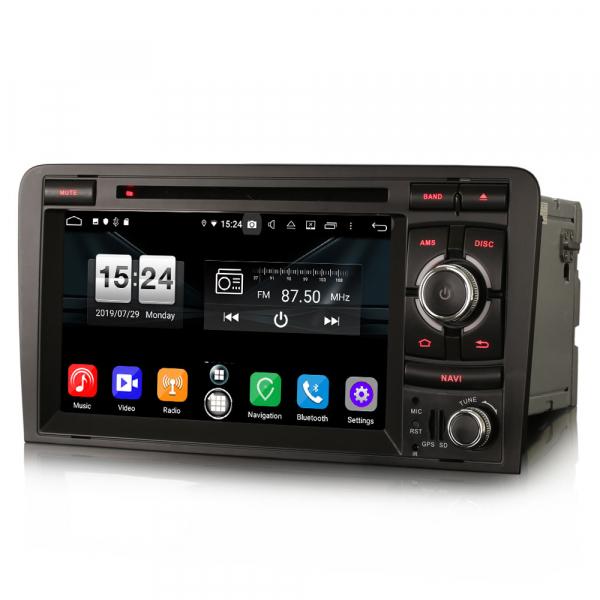 Navigatie auto, Pachet dedicat AUDI A3 S3 RS3, Android 9.0, GPS, WIFI, DAB+, 7 inch. 7