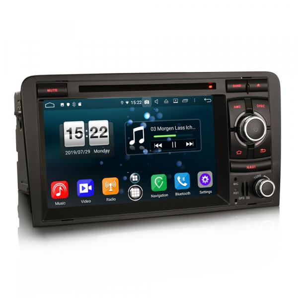 Navigatie auto, Pachet dedicat AUDI A3 S3 RS3, Android 9.0, GPS, WIFI, DAB+, 7 inch. 1