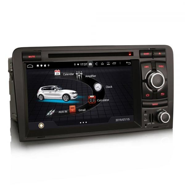Navigatie auto, Pachet dedicat AUDI A3 S3 RS3, Android 9.0, GPS, WIFI, DAB+, 7 inch. 2