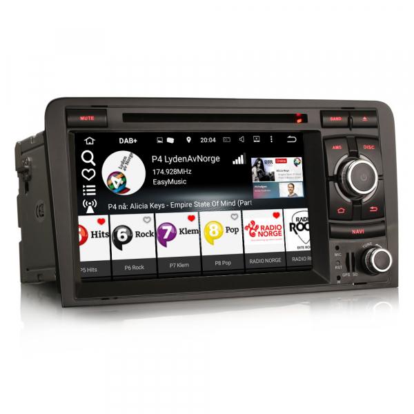 Navigatie auto, Pachet dedicat AUDI A3 S3 RS3, Android 9.0, GPS, WIFI, DAB+, 7 inch. 5