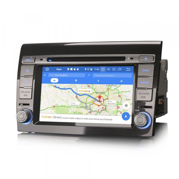 Navigatie auto, Pachet dedicat Fiat Bravo ,7 inch, Android 9.0,8 Core, GPS, WIFI, DAB+ 8