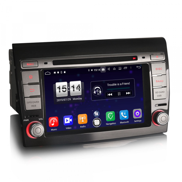 Navigatie auto, Pachet dedicat Fiat Bravo ,7 inch, Android 9.0,8 Core, GPS, WIFI, DAB+ 1