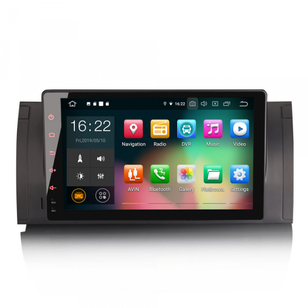 Navigatie auto 2 din, Pachet dedicat BMW 5 Series E39 E53 X5 M5 Navi 4G, Android 9.0 , WIFI+GPS, 9 inch,, DAB+,Quad core CPU, 4GB Ram,32GB memorie interna [0]