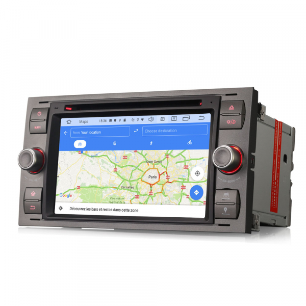 Navigatie auto 2 din, Pachet dedicat Ford Fusion Focus C-Max Fiesta Kuga Mondeo, 7 Inch, Android 10.0 7
