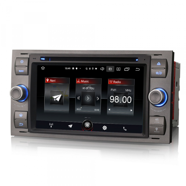 Navigatie auto 2 din, Pachet dedicat Ford Fusion Focus C-Max Fiesta Kuga Mondeo, 7 Inch, Android 10.0 5
