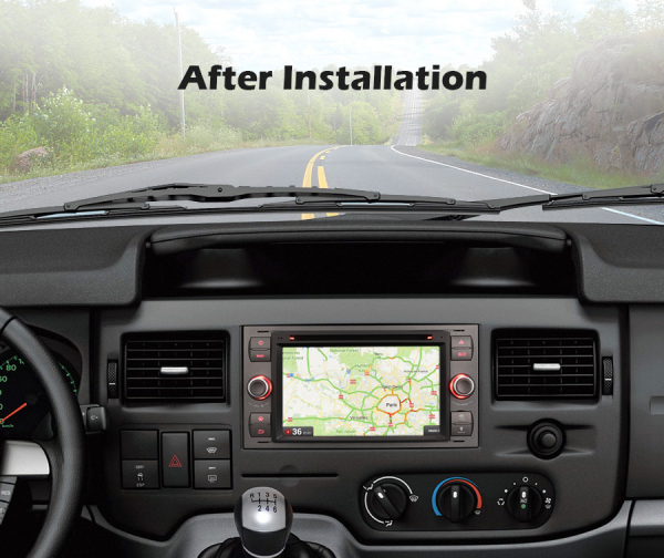 Navigatie auto 2 din, Pachet dedicat Ford Fusion Focus C-Max Fiesta Kuga Mondeo, 7 Inch, Android 10.0 9