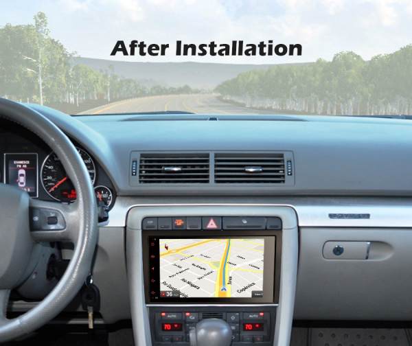 Navigatie auto, Pachet dedicat Audi A4 S4 SEAT EXEO,8 inch, Android 10 [9]
