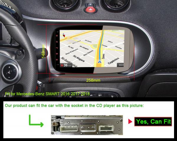 Navigatie auto, Pachet dedicat Mercedes-Benz Smart, Android 10, 9 Inch [7]