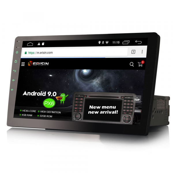 Navigatie auto universala 1DIN, articulatie rotativa, 10.1 inch, Android 10, GPS, WIFI, DAB+ 2