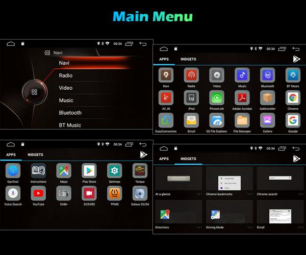 Navigatie auto, Pachet dedicat BMW Seria 3 ,8 inch, Android 10 8