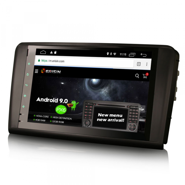 Navigatie auto, Pachet dedicat Mercedes BENZ ML/GL , Android 10.0, 9 inch 2