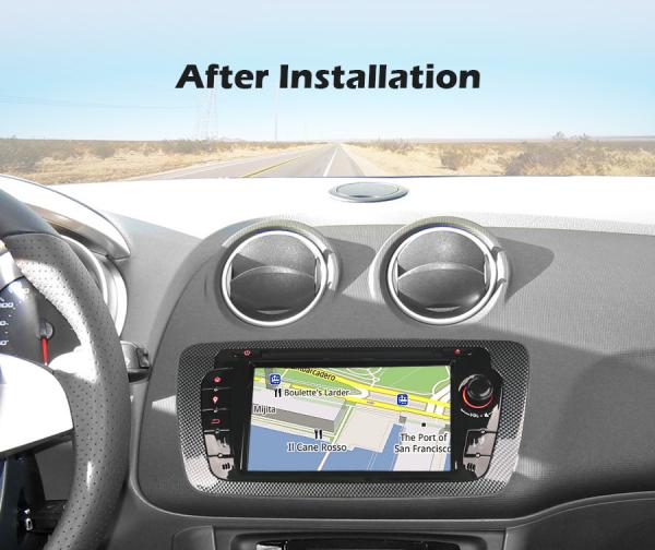 Navigatie auto, Pachet dedicat SEAT IBIZA, Android 10.0,7 inch 8