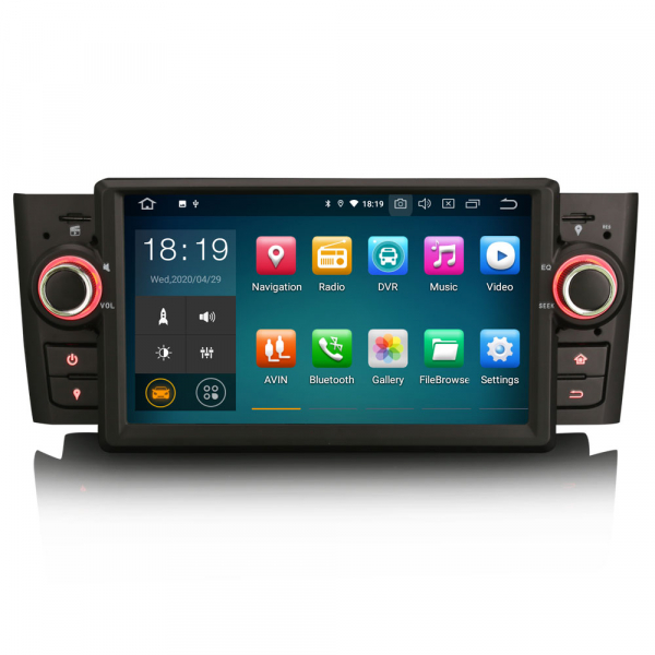 Navigatie auto, Pachet dedicat Fiat Punto Linea ,7 inch, Android 10 0