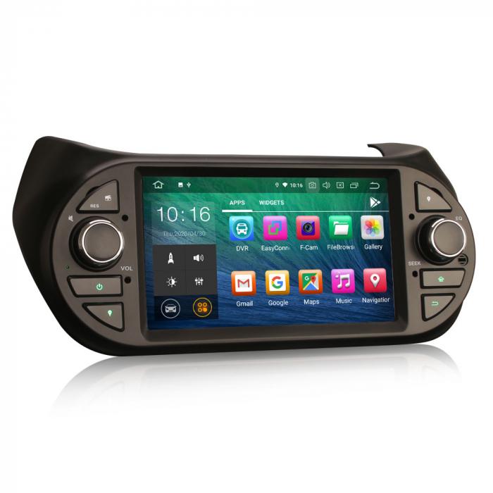 Navigatie auto, Pachet dedicat Fiat Fiorino Citroen Nemo Peugeot Bipper  ,7 inch, Android 10.0 6