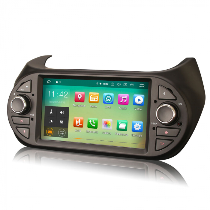 Navigatie auto, Pachet dedicat Fiat Fiorino Citroen Nemo Peugeot Bipper  ,7 inch, Android 10.0 2