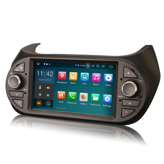 Navigatie auto, Pachet dedicat Fiat Fiorino Citroen Nemo Peugeot Bipper  ,7 inch, Android 10.0 3