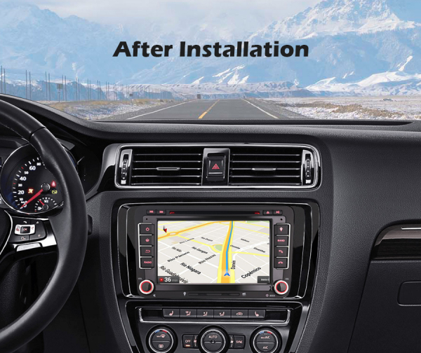 Navigatie auto 2 din, Pachet dedicat VW/SEAT/SKODA, Android 10 ,7 inch 8