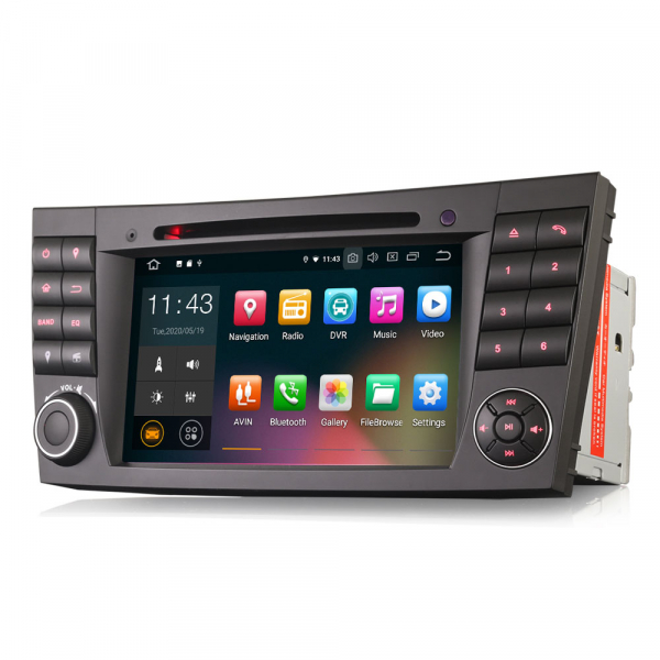 Navigatie auto, Pachet dedicat Mercedes E Class W211 CLS Class W219, Android 10.0, 7 inch 2
